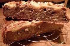 Proeven op zondag: Broodpudding met hazelnoot en appel, geen suiker, geen vet, geen lactose en veganistisch, wel niet voedselzandloperproof