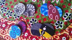 Orecchini con stoffe africane