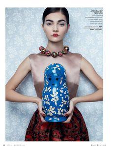 Vogue Rússia Deс 2012  model: antonina vasylchenko  photographer: danil golovkin  stylist: olga dunina