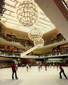 Ice skating rink in Eastland Mall, Charlotte NC - 1980 Charlotte North Carolina, Charlotte Nc, Eastland Mall, Abandoned Malls, Dead Malls, Bee Toys, Mall Stores, Shopping Malls, Toys R Us