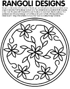 Rangoli Designs coloring page