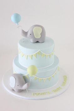 baby shower cake ideas elephant best cakes on fondant boy christening Idee Baby Shower, Torta Baby Shower, Baby Boy Shower, Baby Party, Baby Shower Parties, Baby Shower Themes, Baby Showers, Shower Ideas, Elephant Baby Shower Cake