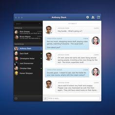 Facebook Messenger App  by Christoffer O. Jensen