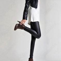Discount China china wholesale New Women Warm Sexy Stretch Black Faux Leather Tights Fancy Leggings For Ladies [31411] - US$12.99 : Bluelans    So cute!