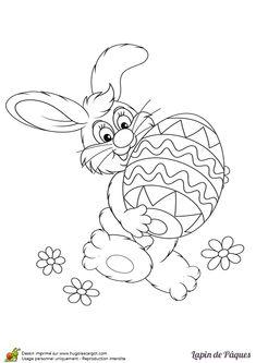 Lapin De Paques Et Son Oeuf Enorme Page 4 Sur 12 HugoLescargot Easter Coloring SheetsEaster ColouringColoring