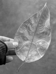 Leaf art via Mischief Managed!