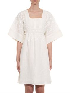 Vanessa Bruno Athé Charlenn embroidered linen dress