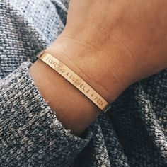 Personalized Cuff Bracelet by Barberry + Lace | www.barberryandlace.com