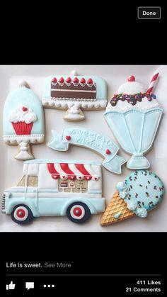 Food truck cookies!!! ❤️❤️❤️