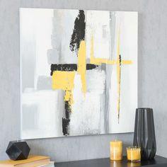 Lienzo 70 x 70 cm ABSTRACT YELLOW