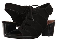 f5669444e31e Walking Cradles Nola Black Nubuck Women s 1-2 inch heel Shoes 2 Inch Heels