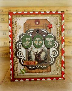 Joy Christmas card for Bo Bunny with the Christmas Collage collection #bobunny #cards #christmas