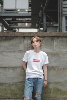 //DROP TOKYO// HATSUMI KUBOYA♡ T-shirt: Supreme | シュプリーム Trousers: ROSE BUD | ローズ バッド