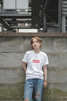 //DROP TOKYO// HATSUMI KUBOYA♡ T-shirt: Supreme   シュプリーム Trousers: ROSE BUD…