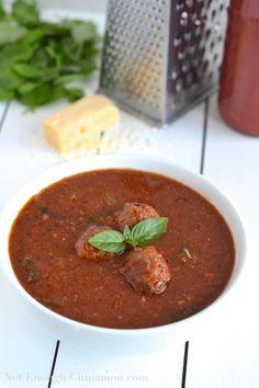 Crockpot Italian Meatball Tomato Soup - NotEnoughCinnamon.com