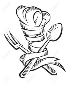chef hat ribbon drawing - Google Search
