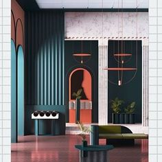 70 New Ideas for house contemporary interior furniture Contemporary Interior Design, Modern Interior Design, Interior Design Inspiration, Interior Architecture, Contemporary Art, Color Interior, Contemporary Wallpaper, Interior Plants, Contemporary Architecture