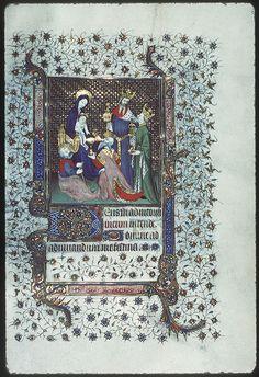 Bourges, Mus –  Page décorée / Adoration des Mages