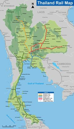 Thailand Rail Map #lovesamui #lovetrains