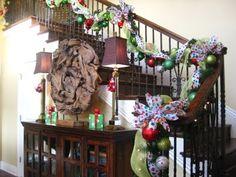 Staircase Garland for Christmas