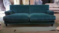 Habitat Askem Emerald green velvet 3 seater sofa - £1400 in store