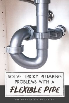 Installing a new sink, but now the drain doesn't line up with the pipe in the wall? I'll show you how to install a flexible waste pipe with a handy Bathroom Sink Plumbing, Under Sink Plumbing, Plumbing Drains, Plumbing Tools, Plumbing Fixtures, Bathroom Fixtures, Basement Bathroom, Bathrooms, Flexible Pipe