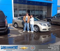 #HappyAnniversary to David  Corley on your 2013 #Chevrolet #Malibu from Aaron  Shieldnight at Lake Country Chevrolet Cadillac!