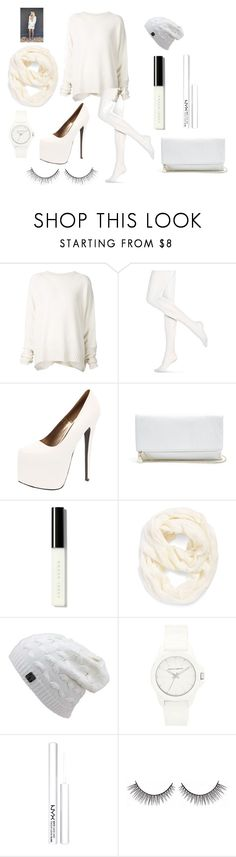 """""""Have a Holly Jolly White Christmas"""" by aquata11 on Polyvore featuring URBAN ZEN, Hue, Boohoo, GUESS, Bobbi Brown Cosmetics, Echo, Vince Camuto and NYX"""