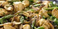 Chicken, mushrooms & asparagus