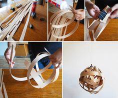 How to Make Woven Vaneer Lamp - DIY & Crafts - Handimania: http://www.handimania.com/diy/woven-vaneer-lamp.html