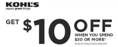 *HOT* Kohls: $10 off $30 or More Coupon (In Store and Online!)