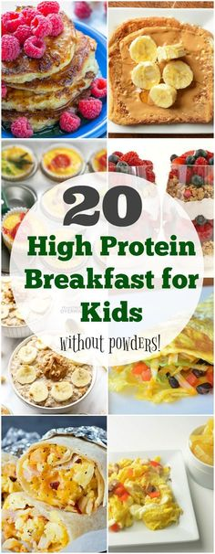 It's no secret that breakfast, with a good amount of protein and fat, can not only be filling, but also help kids focus during those early morning school hours! Here's 20 high protein breakfast for kids that you can implement. Protein Dinner, High Protein Breakfast, Best Breakfast, Breakfast Healthy, Breakfast Cooking, School Breakfast, Breakfast Ideas For Kids, Children Breakfast, Kids Breakfast Recipes