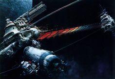 Science Fiction Illustrations by John Berkey - Sci-Fi Space Art Sci Fi Wallpaper, Artistic Wallpaper, Wallpaper Backgrounds, John Waters, Robert Mcginnis, George Carlin, Frank Frazetta, John John, Stoner Rock
