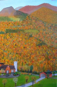 AUTUMN MOUNTAINS   24 x 36    $995.00