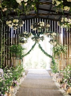 Wedding Ideas: flowering-greenery-barn-yard-wedding