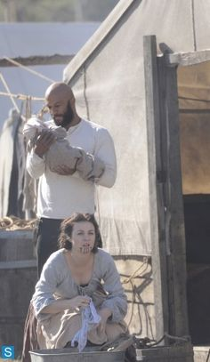 "3.02 ""Eminent Domain"" Elam, Eva and Baby Rose. Elam was such a good daddy."