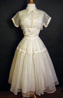 1950's Dotted Swiss? Dress and Matching Jacket