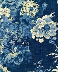 Distributor prices on Waverly BALLAD BOUQUET INDIGO 670565 floral print upholstery and drapery fabric. Decorative Fabrics Direct since fabric and samples available for immediate shipment. Waverly Bedding, Waverly Fabric, Floral Print Fabric, Blue Fabric, Floral Prints, Fabric Shades, Waverly Wallpaper, Of Wallpaper, Pantone