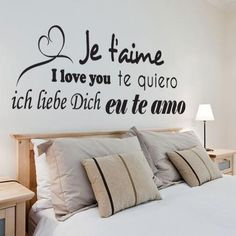 Inspiration google and stickers on pinterest for Stickers phrase chambre adulte
