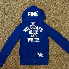 Victoria Secret Pink University of Kentucky Hoodie Rare! Limited edition!  Worn once or twice. In perfect, like new condition. No factory string in hoodie - didn't come with one. Cheer on your wildcats! PINK Victoria's Secret Tops Sweatshirts & Hoodies