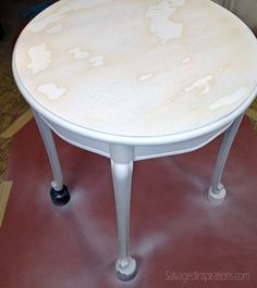 Quick-Tip-Tuesday: Stain Block & Stop Bleed Through When Painting Furniture - Salvaged Inspirations Using Chalk Paint, Chalk Paint Colors, Chalk Paint Projects, White Chalk Paint, Wood Colors, Diy Projects, White Painted Furniture, Chalk Paint Furniture, Repainting Furniture