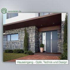 Die Haustür ist ein zentraler Punkt des eigenen Heims, aber den Bewohnern ist der Eingang oft so vertraut, dass sie ihn glatt übersehen. Dabei bietet die Tür viel Potenzial – für Energieeinsparungen, Wohnkomfort und Sicherheit. http://www.renovieren.de/ratgeber-fassade/hauseingang-optik-technik-und-design