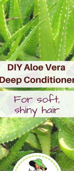 DIY Aloe Vera Deep Conditioner Hair Treatment #tratamiento Deep Conditioner, Shiny Hair, Aloe Vera, Diy, Glossy Hair, Brighter Hair, Bricolage, Do It Yourself, Homemade