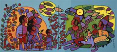 Observations of the Astral World, Norval (called Copper Thunderbird) Morrisseau; (National Gallery of Canada) Painting Lessons, Art Lessons, Kunst Der Aborigines, Cultural Crafts, Woodland Art, Native American Artists, Guache, Canadian Art, Indigenous Art