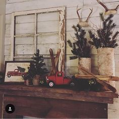 LOVING!! The way @rustic_farmhouse styled our vintage Christmas truck sign! There will... | Use Instagram online! Websta is the Best Instagram Web Viewer!