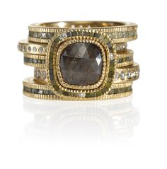 Todd Reed I Rose gold ring stack, made in Boulder, Colorado.