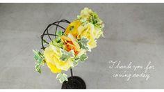 ウェディングヘッドドレス髪飾り完成品●バラとあじさいの花かんむり