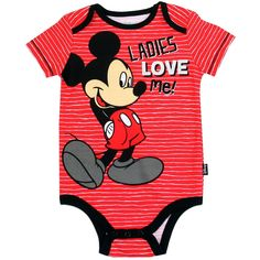 Disney mickey mouse ladies love me baby boy onesie Toddler Outfits, Baby Boy Outfits, Kids Outfits, Boy Onesie, Onesies, Disney Baby Clothes, Babies Clothes, Mickey Mouse, Boys Clothes Online