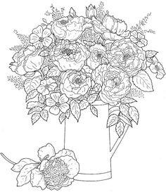 Creative Haven Beautiful Flower Arrangements Coloring Book