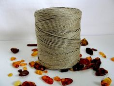 Waxed linen natural 1.2mm / 260 meters from Jewelry&Hand Made by DaWanda.com